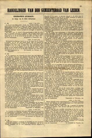 Handelingen van de Raad 1873-05-01