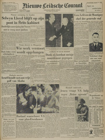 Nieuwe Leidsche Courant 1957-01-14