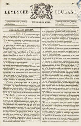 Leydse Courant 1846-04-22