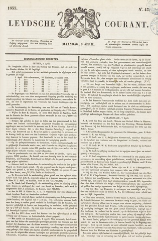 Leydse Courant 1855-04-09