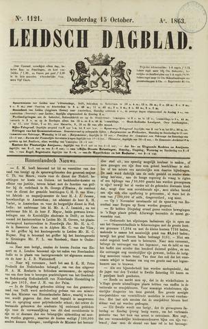 Leidsch Dagblad 1863-10-15