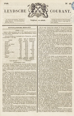 Leydse Courant 1846-04-10