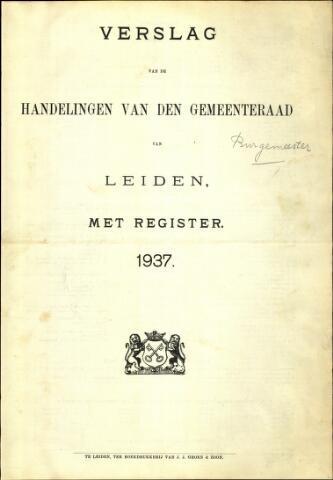 Handelingen van de Raad 1937-01-01