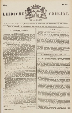 Leydse Courant 1884-06-20