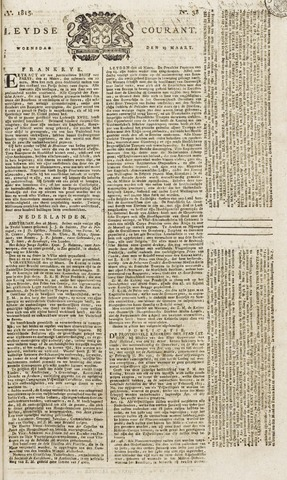 Leydse Courant 1815-03-29