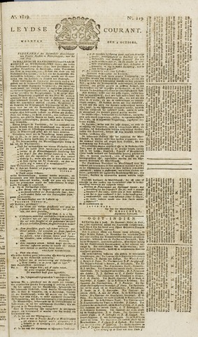 Leydse Courant 1819-10-04