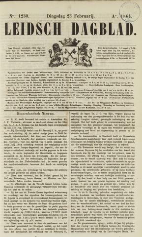 Leidsch Dagblad 1864-02-23