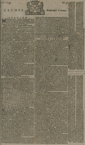 Leydse Courant 1749-03-24