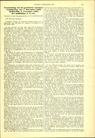 Handelingen van de Raad 1925-12-08