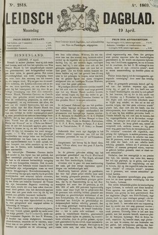 Leidsch Dagblad 1869-04-19