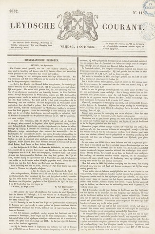 Leydse Courant 1852-10-01