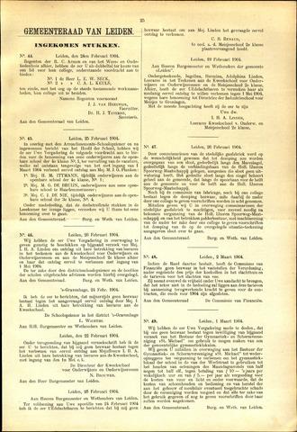 Handelingen van de Raad 1904-02-24
