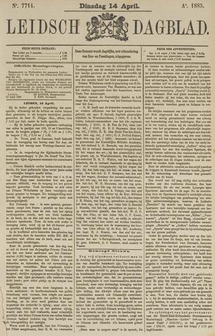 Leidsch Dagblad 1885-04-14