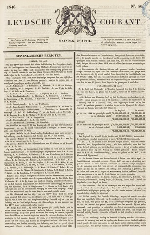 Leydse Courant 1846-04-27