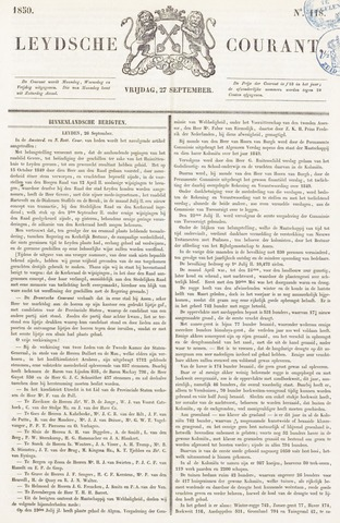Leydse Courant 1850-09-27