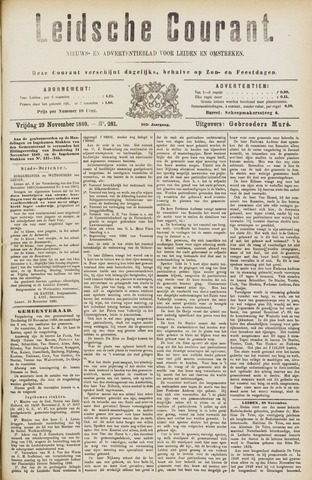 Leydse Courant 1889-11-29