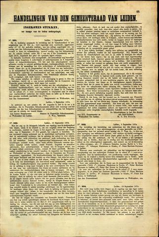 Handelingen van de Raad 1874-09-07