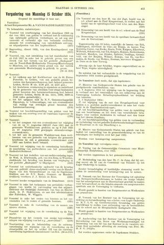 Handelingen van de Raad 1934-10-15