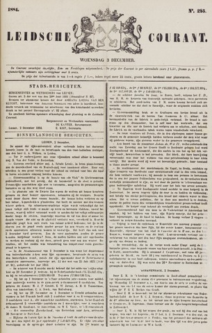 Leydse Courant 1884-12-03