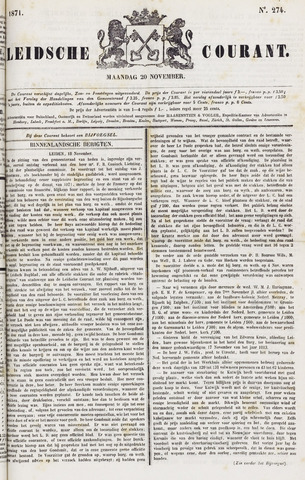 Leydse Courant 1871-11-20