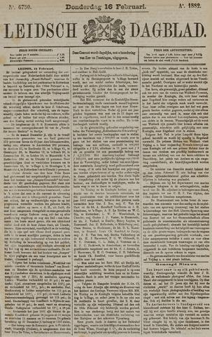 Leidsch Dagblad 1882-02-16