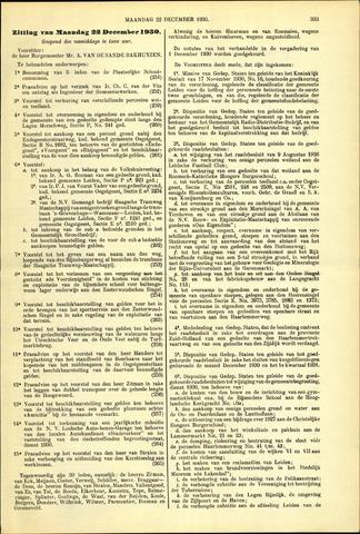 Handelingen van de Raad 1930-12-22