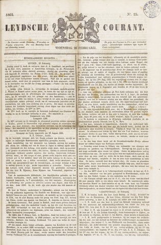 Leydse Courant 1862-02-26