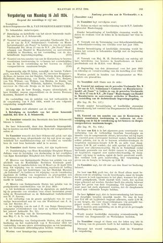 Handelingen van de Raad 1934-07-16