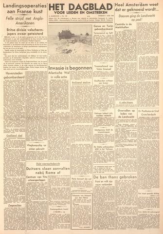 Dagblad voor Leiden en Omstreken 1944-06-06