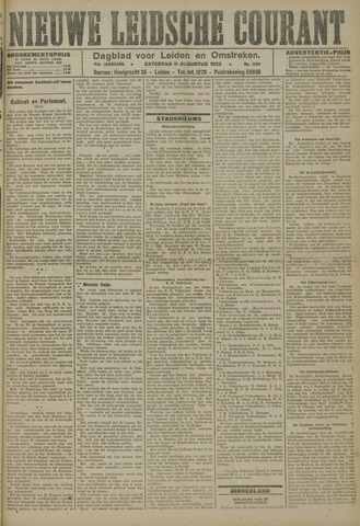 Nieuwe Leidsche Courant 1923-08-11