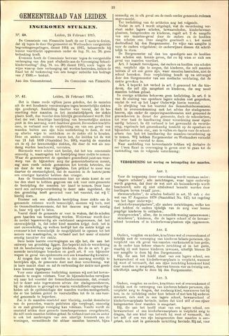 Handelingen van de Raad 1915-02-24