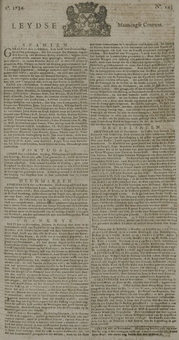 Leydse Courant 1734-11-29