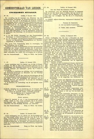 Handelingen van de Raad 1931-01-06