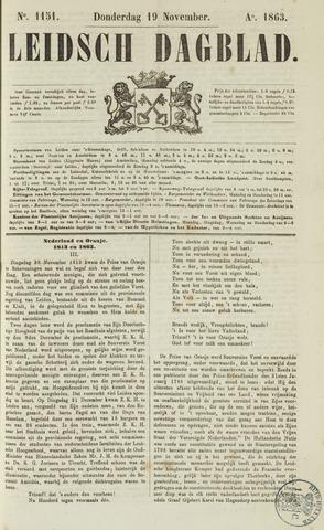 Leidsch Dagblad 1863-11-19