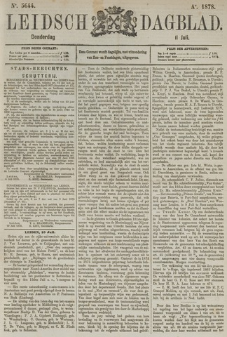 Leidsch Dagblad 1878-07-11