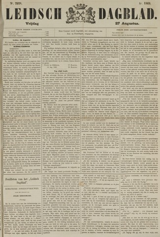 Leidsch Dagblad 1869-08-27