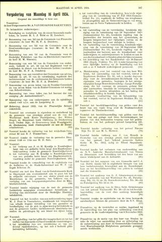 Handelingen van de Raad 1934-04-16