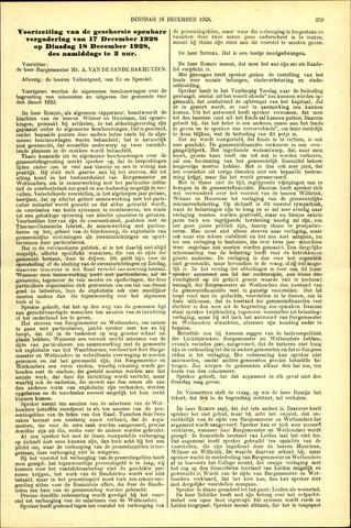 Handelingen van de Raad 1928-12-18