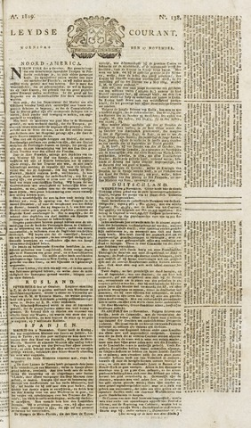 Leydse Courant 1819-11-17