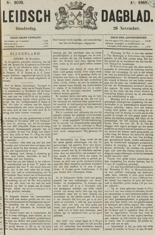 Leidsch Dagblad 1868-11-26