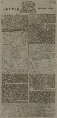 Leydse Courant 1743-11-27