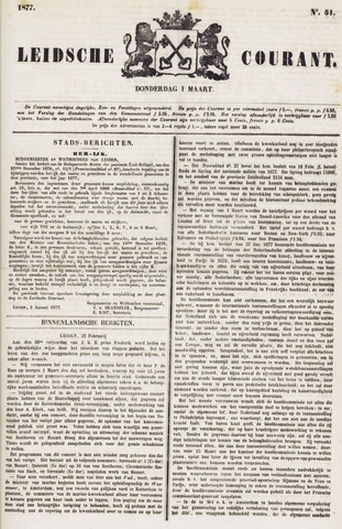Leydse Courant 1877-03-01