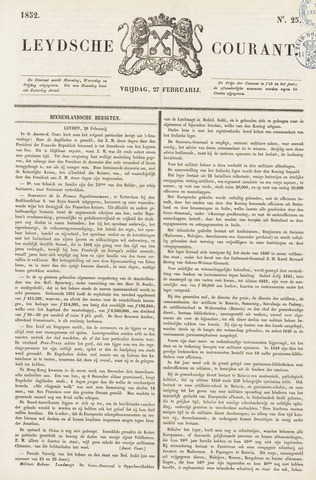Leydse Courant 1852-02-27