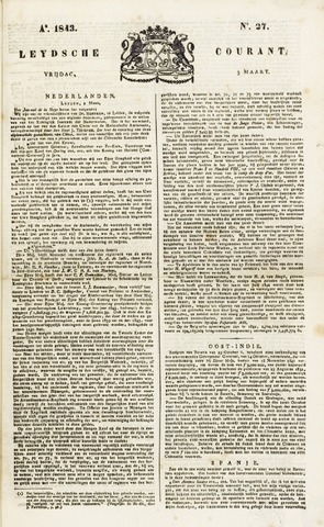 Leydse Courant 1843-03-03