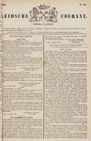Leydse Courant 1884-01-15
