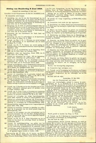 Handelingen van de Raad 1910-06-09