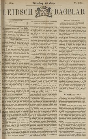 Leidsch Dagblad 1885-07-21