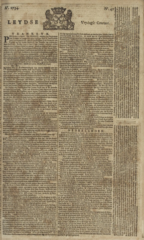 Leydse Courant 1754-04-19