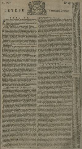 Leydse Courant 1749-12-31