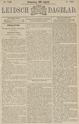 Leidsch Dagblad 1885-04-28